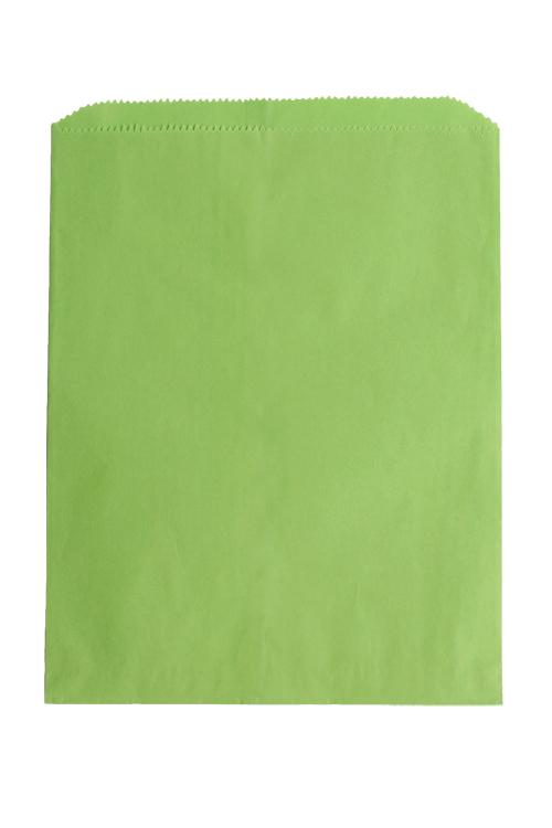 Lime Green Paper Merchandise Bag