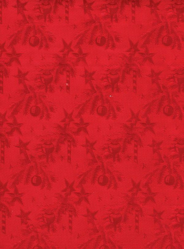 Red Christmas Canes Wrapping Paper