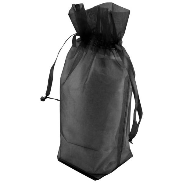 Black Gusseted Organza Bags
