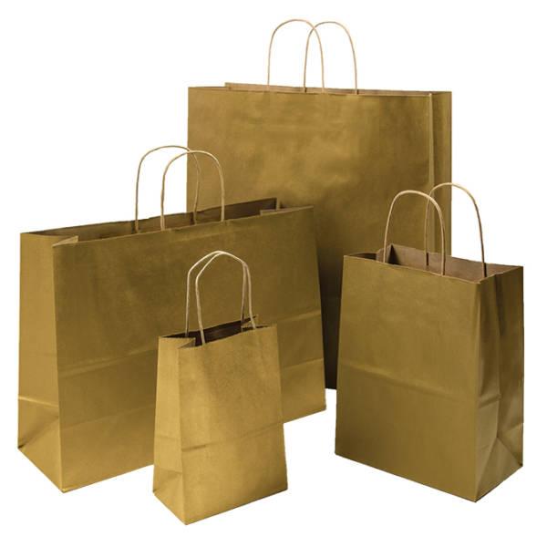 Metallic Gold Shopping Bag