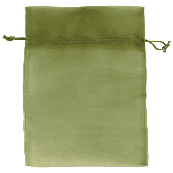 Olive Green Organza Bags