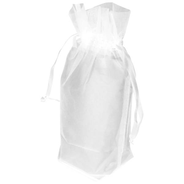 White Gusseted Organza Bag